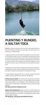 Puenting y Bungee, a saltar toca