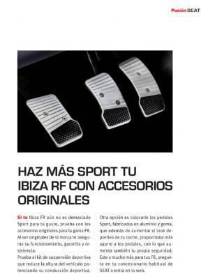 Haz más Sport tu IbizaFR con accesorios originales