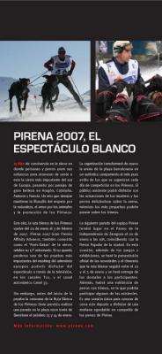 Pirena 2007, el espectáculo blanco